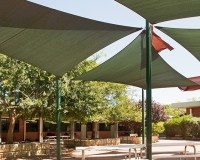 400 Block court yard